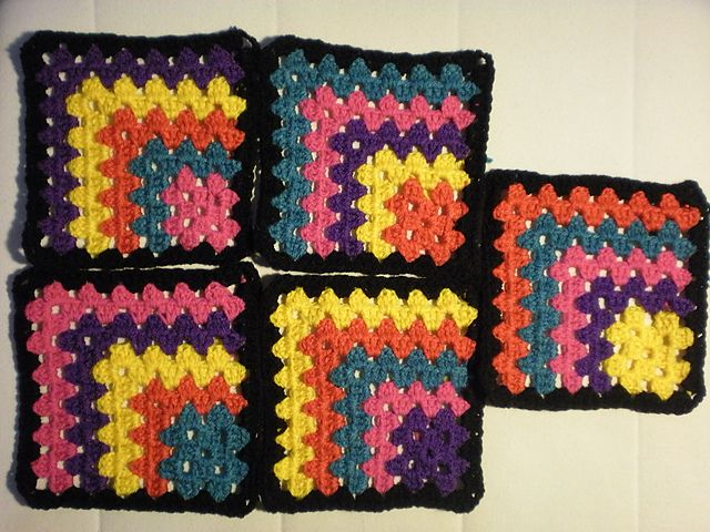 Ravelry: Project Gallery for Modern Mitered Granny Square pattern by ...