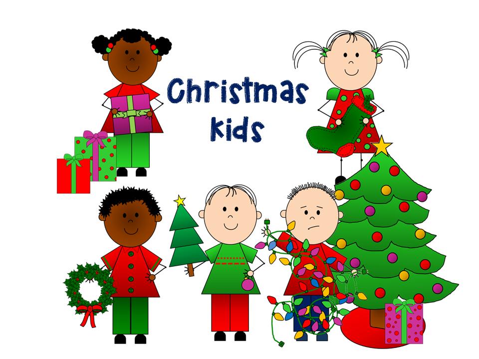 christmas kids clip art busy bee
