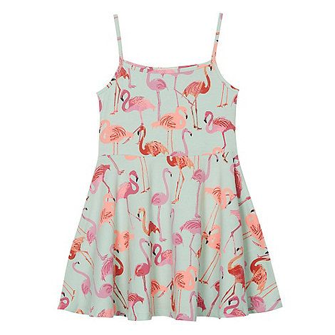 04afe3c7a Fir Evie bluezoo Girls  flamingo print dress