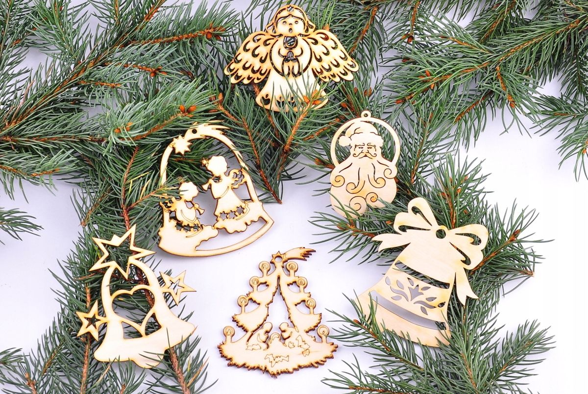 Azurowa Eko Bombka Na Choinke Aniolek Banka Dekor Christmas Balls Christmas Ornaments Christmas Cards