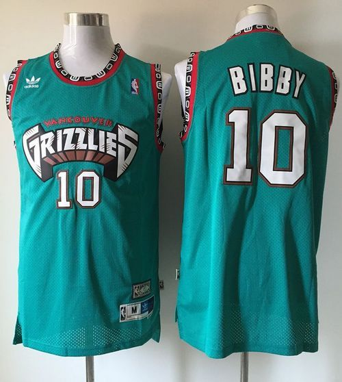 Grizzlies  10 Mike Bibby Green Throwback Stitched NBA Jersey  25898650d