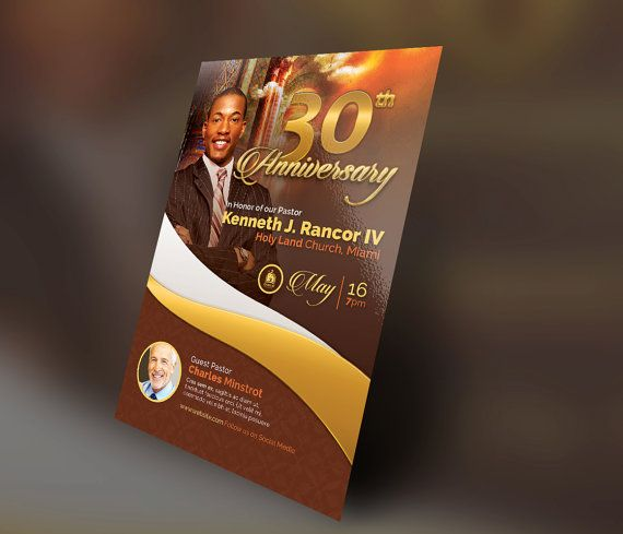 Pastors Anniversary Church Flyer By SeraphimCollective On Etsy