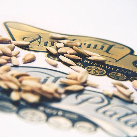 Diseño de etiqueta de melón. Se hizo el diseño de dos etiquetas de melón en Valencia para la nueva marca Amifruit: Amifruit oro y Amifruit Plata.