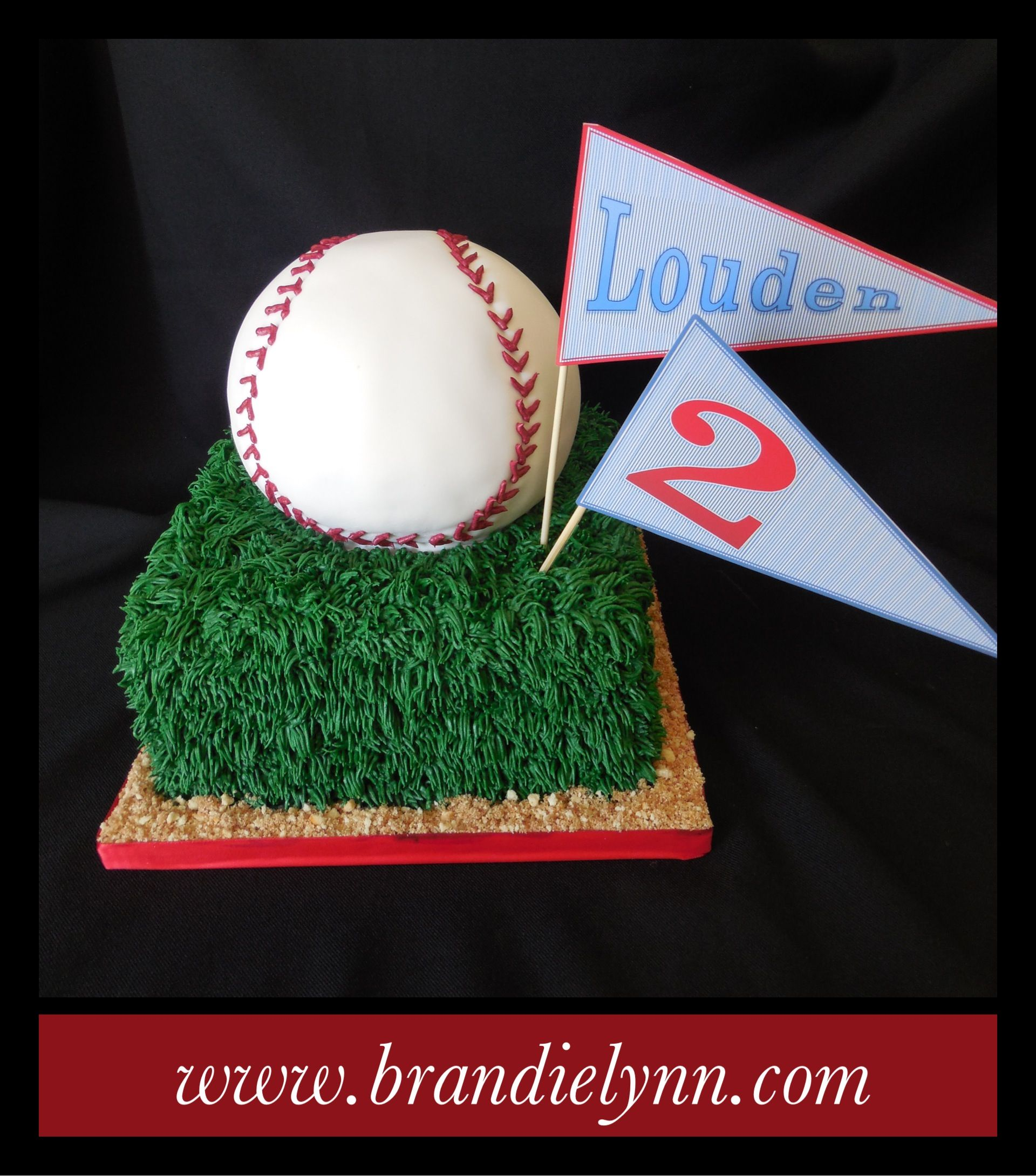 Baseball cake possible 8th birthday cake to coordinate with new big