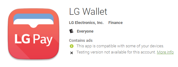 Broken LG Wallet/Pay app hits Play Store, is said to only