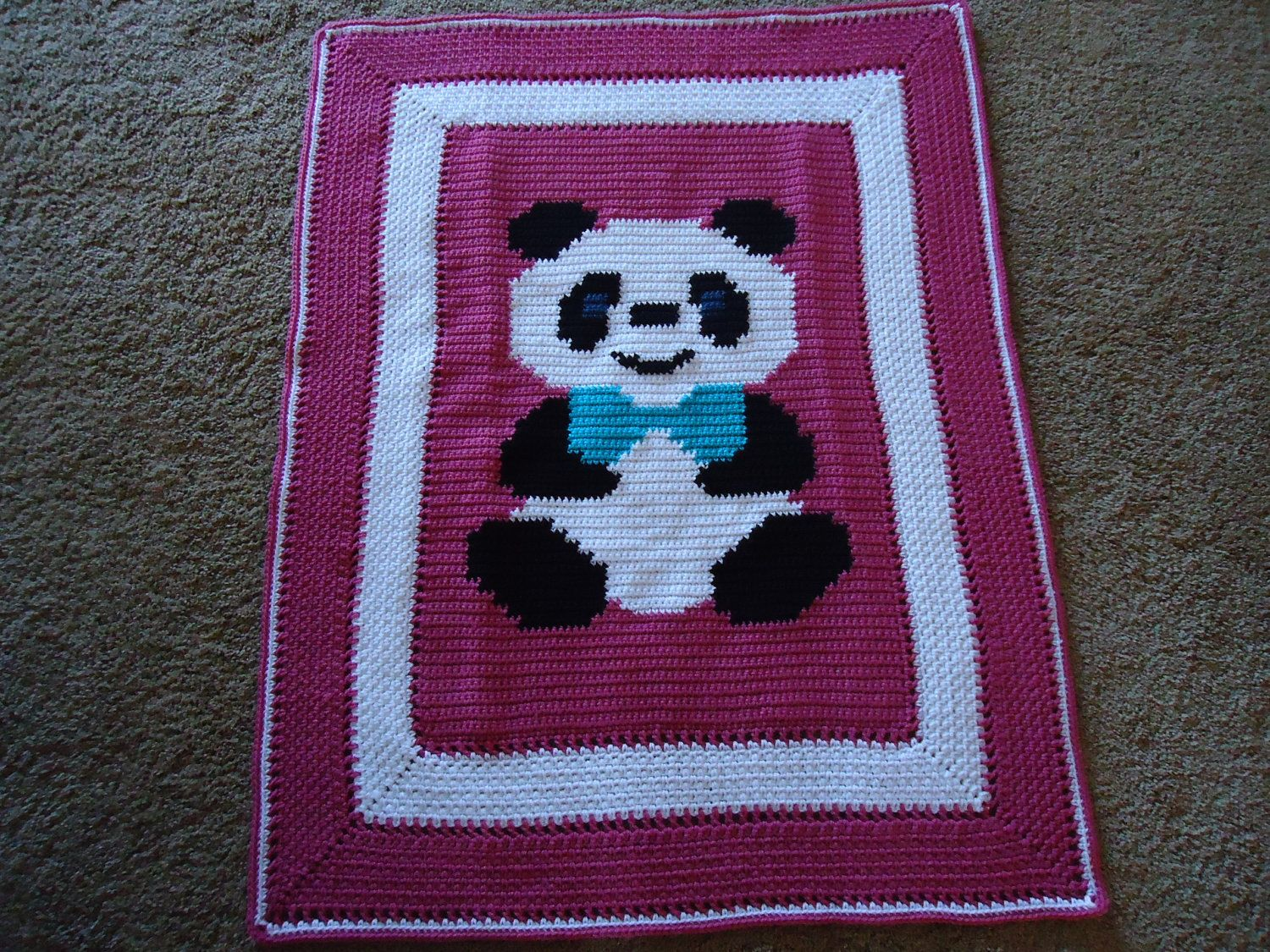 free crochet baby bear blanket patterns | Crocheted Panda Bear Baby ...