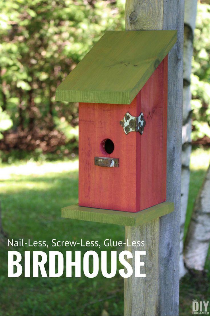 Building a Nail-Less, Screw-Less, Glue-Less Birdhouse | Cajas ...