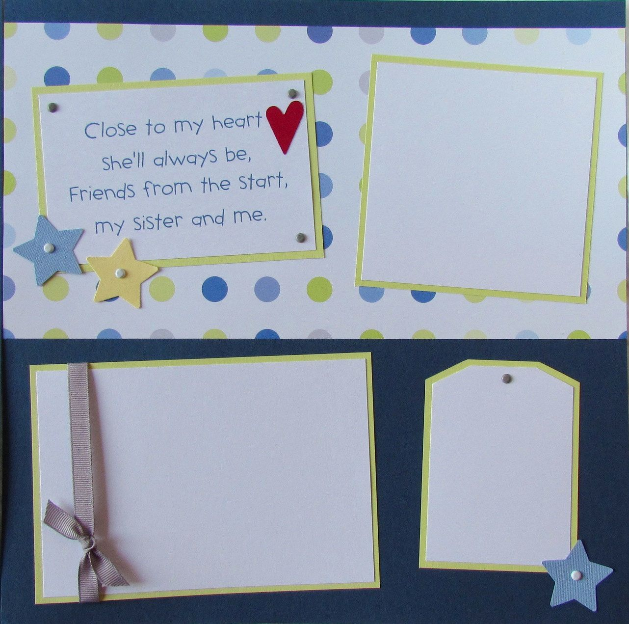 me /& my BIG ideas Scrapbook Page Kit Love My Family Swirl 12-Inch by 12-Inch