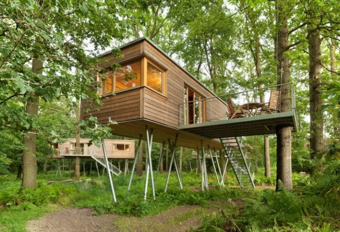 Gartenhaus auf Stelzen bauen Ideen fürs Stelzenfundament