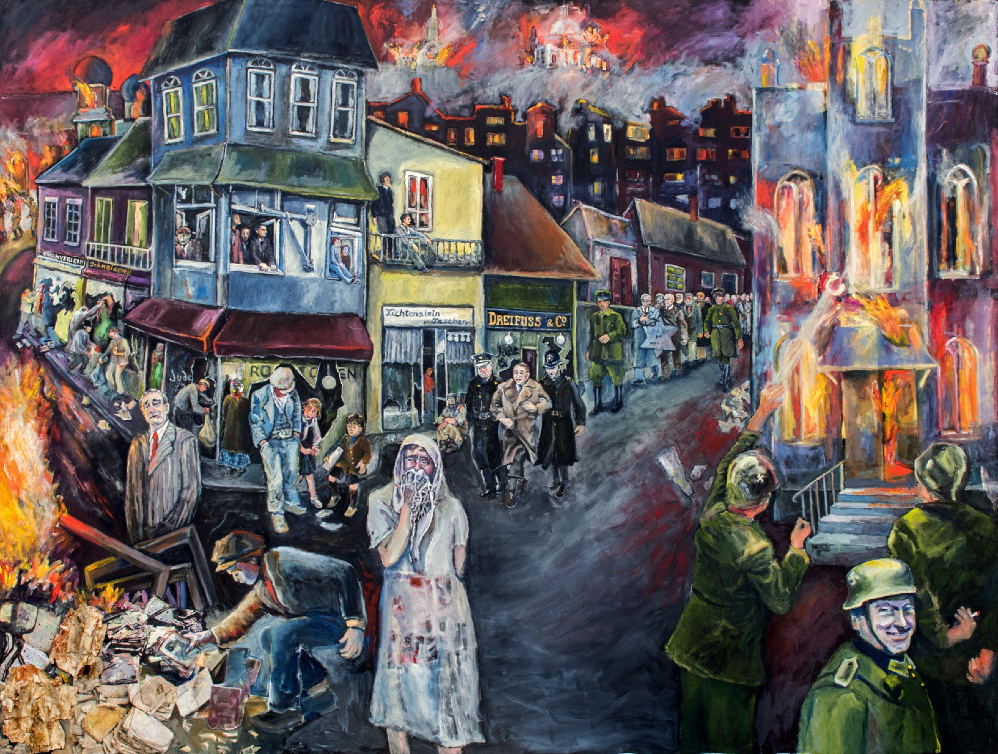 2008 Holocaust Days Of Remembrance Kristallnacht Night Of Broken Glass Poster