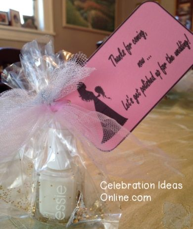Bridal Shower Favor Idea Thank Your Guests With Nail Polish So They