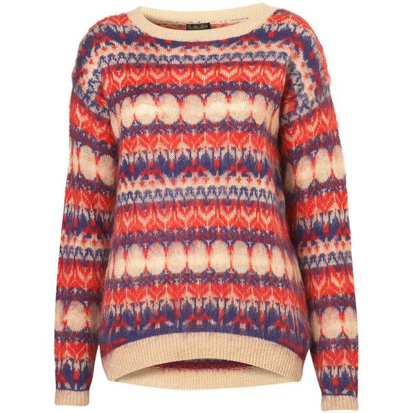 Knitted Jacquard Jumper ($90) ❤ liked on Polyvore