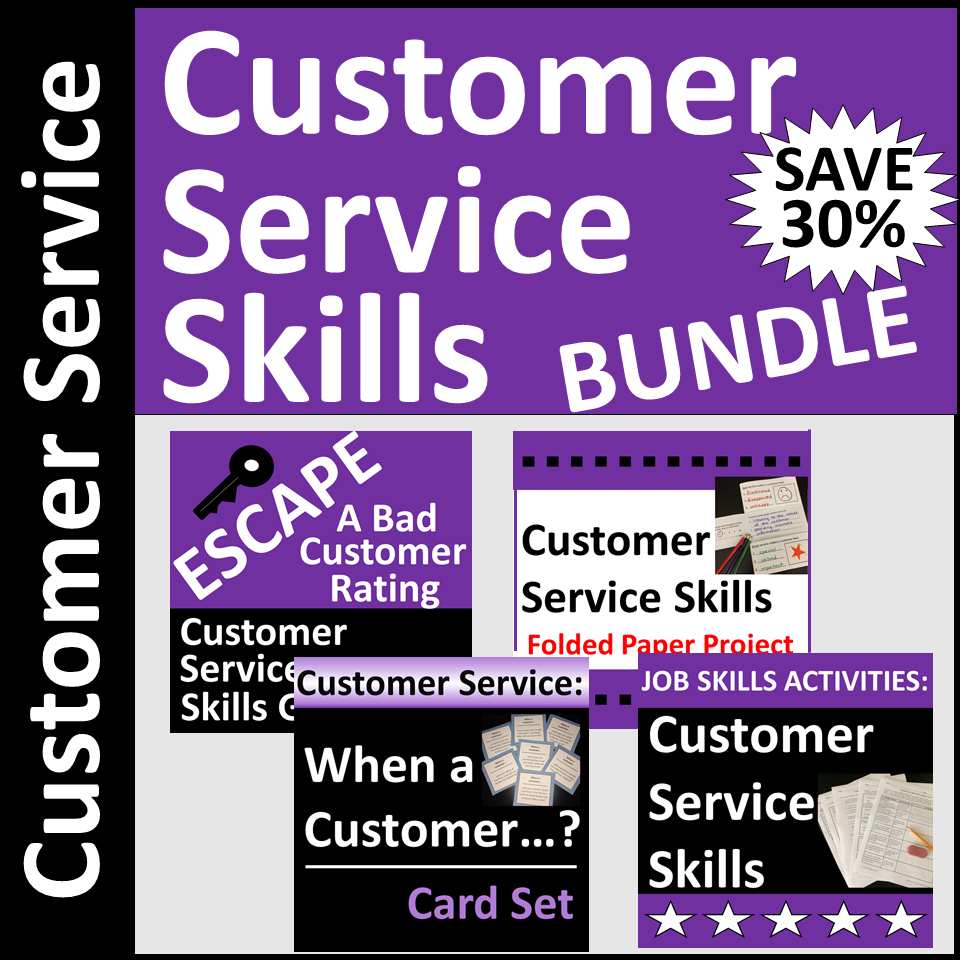 Customer Service Skills Activities For Classroom Or Distance Learning For Cte Or High School In 2021 Skills Activities Teaching Life Skills Financial Literacy Lessons