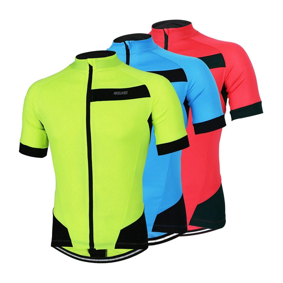 73cca596e ARSUXEO Outdoor Sports Cycling Jersey Spring Summer Bike Bicycle Short  Sleeves MTB Clothing Shirts