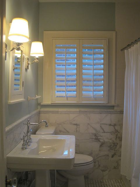 Must Have Plantation Shutters For The Tiny Window In My Bathroom