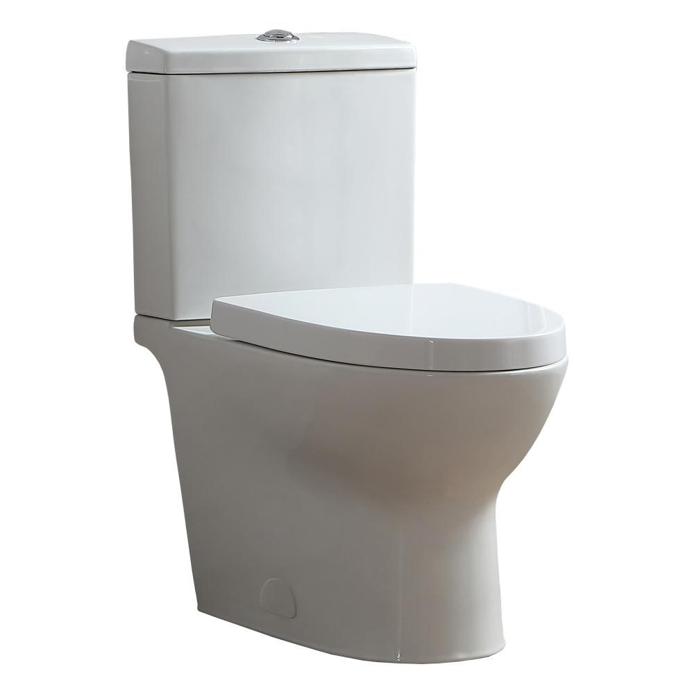 OVE Decors Beverly 2-Piece 1.1/1.6 GPF Dual Flush Elongated Toilet in White, Seat Included-15WDP-BEVE00-00 - The Home Depot