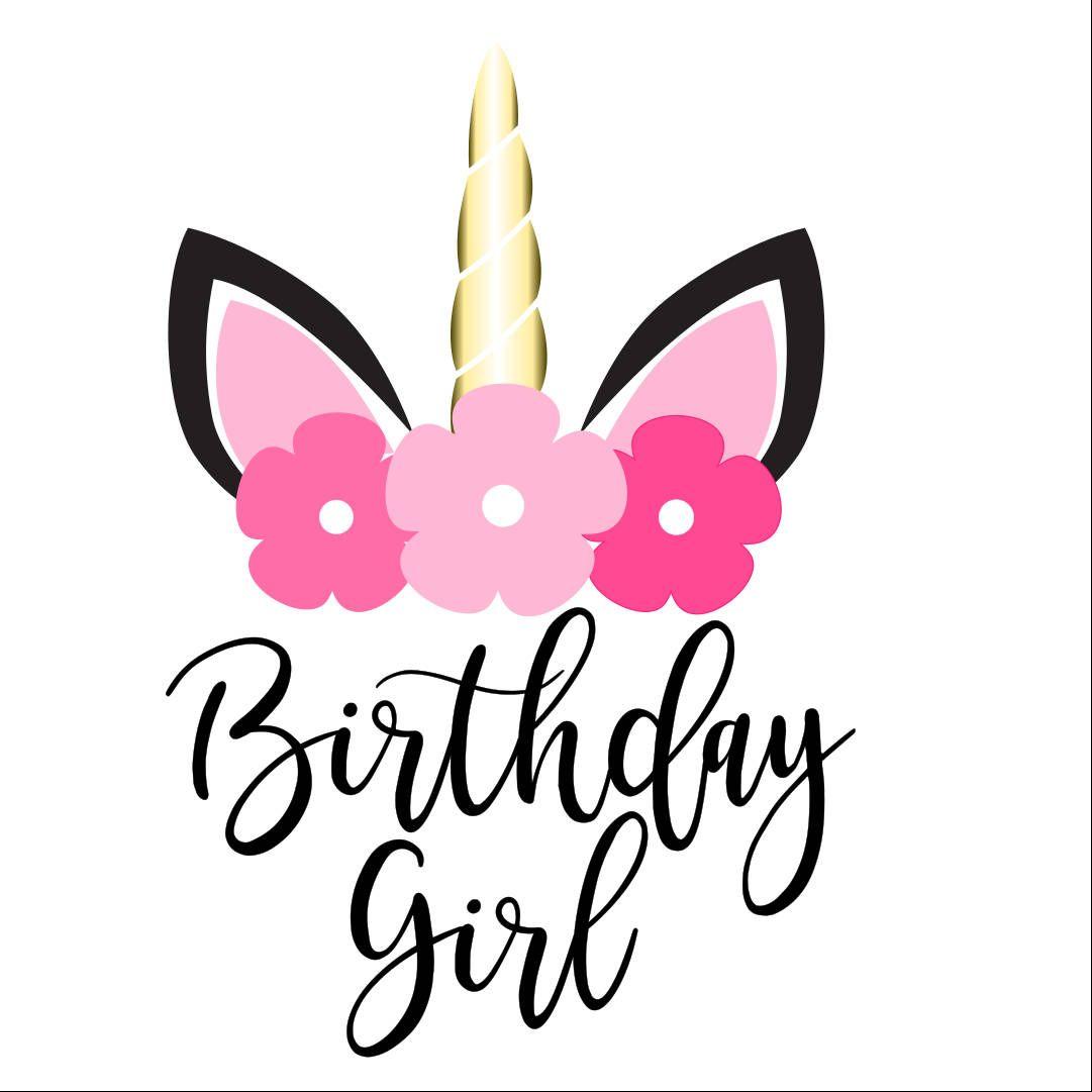 Birthday Girl Unicorn SVG   Designs by Spotted Frog SVG Etsy
