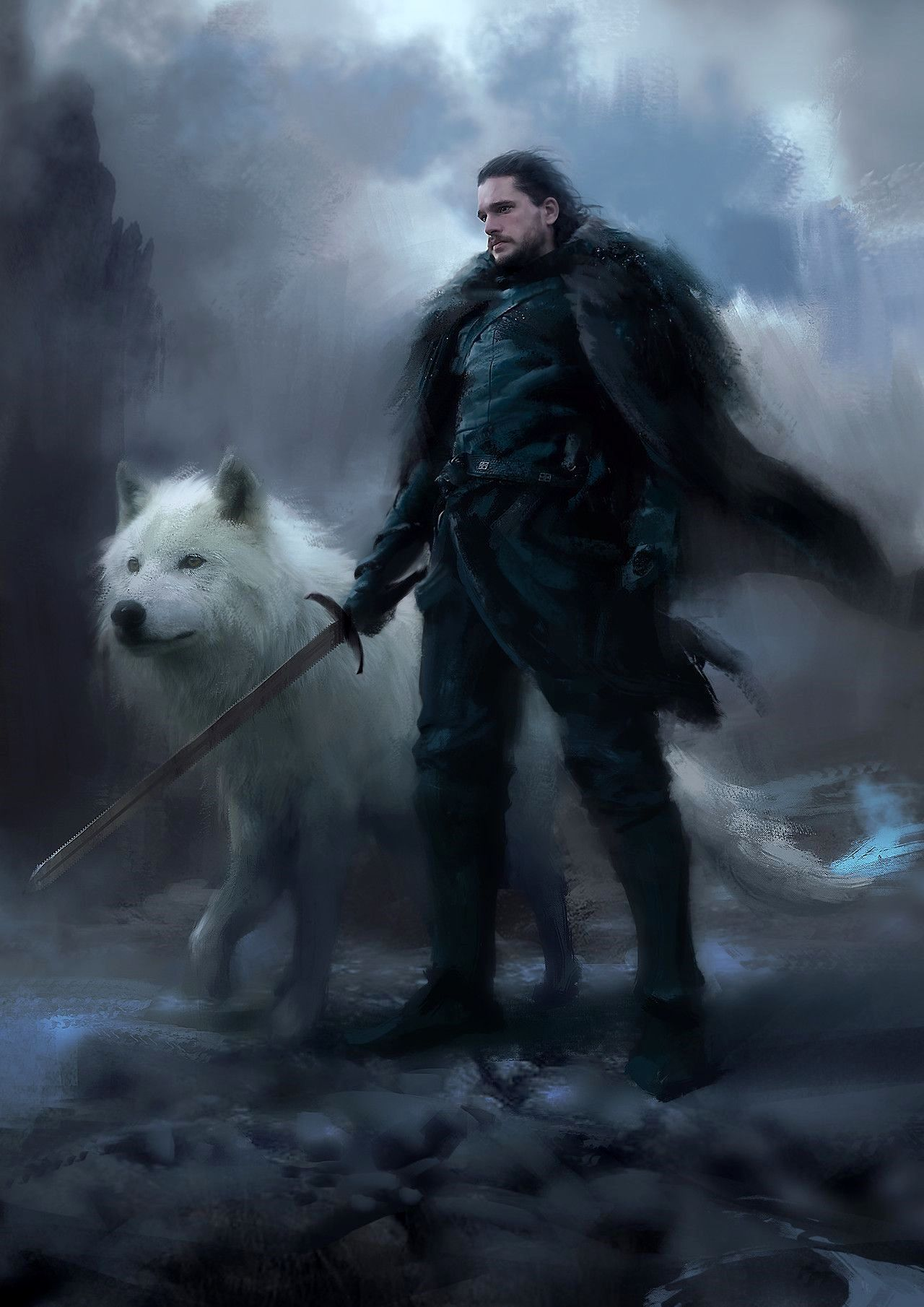 Wallpaper 4k Jon Snow Trick King In The North Jon Snow Art Jon Snow Jon snow game of thrones wallpaper