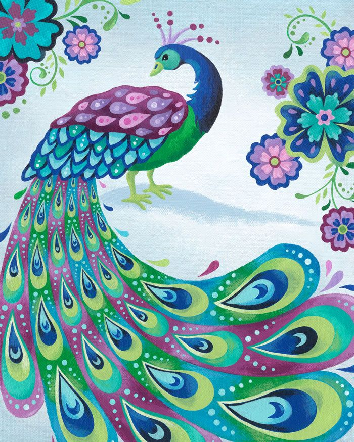 Painted Couple Peacock Wedding Gifts Unique Delicate Home: Peacock Art Print 8 X 10. $15.00, Via Etsy.