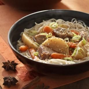 Slow cooker chinese pork vegetable hot pot