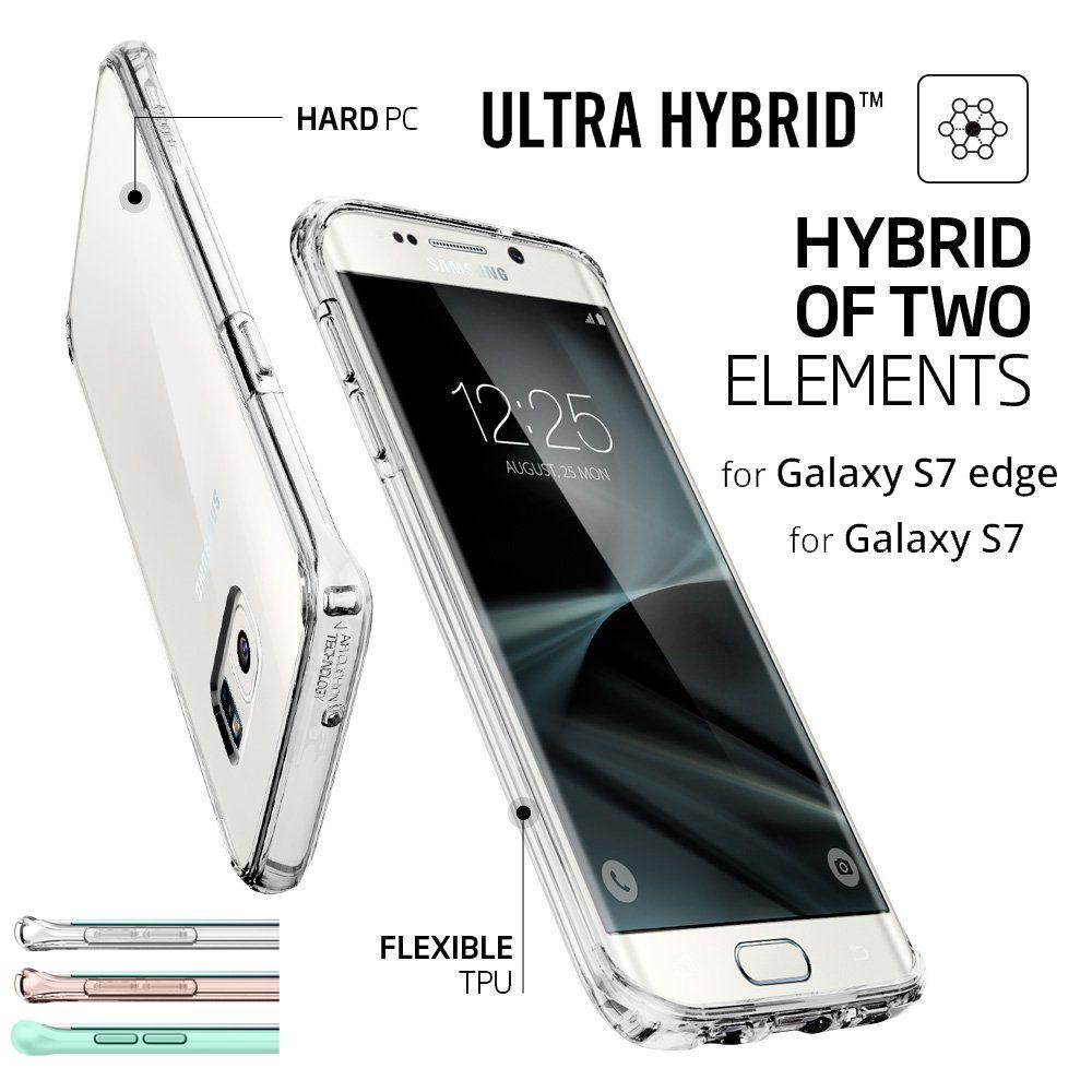Aliantech ultra hybrid/cristallo shell case per samsung galaxy s7 edge/galaxy s7 con trasparente pannello posteriore + telaio in tpu