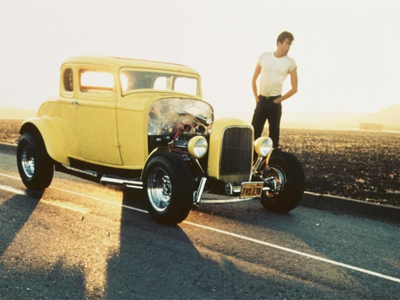 1973 AMERICAN GRAFFITI 8X10 MOVIE PHOTO MILNER/'S 1932 FORD DUECE COUPE HOT ROD