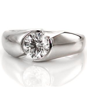 half bezel solitaire engagement places and