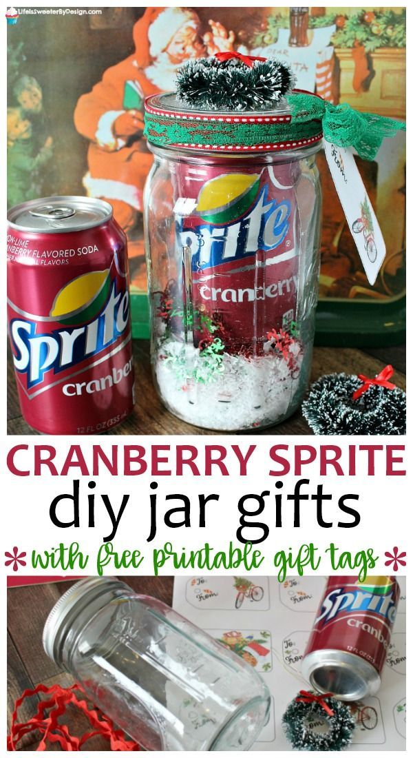 DIY Sprite® Cranberry Christmas Jars are such an easy gift to make! Everyone loves getting a gift in a jar!! This simple Christmas craft will become a favorite to make each year. #ad #MyHolidayEveryday #giftinajar #christmas #christmasgiftideas #DIY #crafts