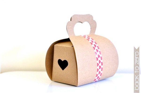 Heart Dome Kraft Box x 5. $5.00, via Etsy.