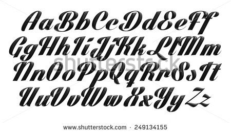 3D Poster Bold Classic style font, black condensed letters