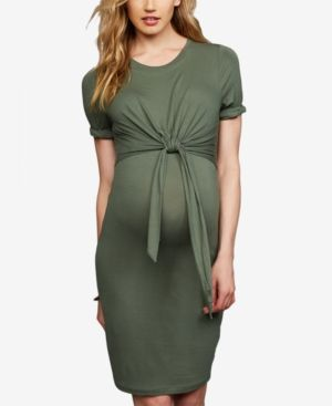 32c7fd29ae8 A Pea In The Pod Maternity Tie-Front Dress - Green XS