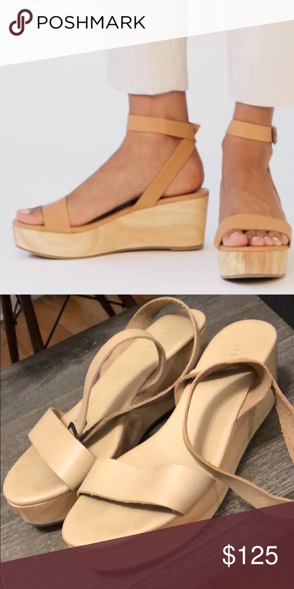 24727e3df2 Nisolo Sarita Wooden Wedge Sandal There sandals are beautiful, just not  right for me. Never worn 100% leather Nisolo Shoes Sandals