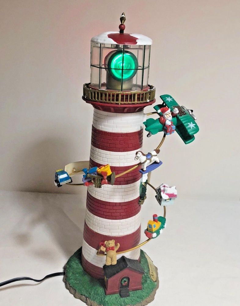 Mr Christmas Collectibles Tree Topper Holiday Lighthouse Assateague Virginia 99 MrChristmas