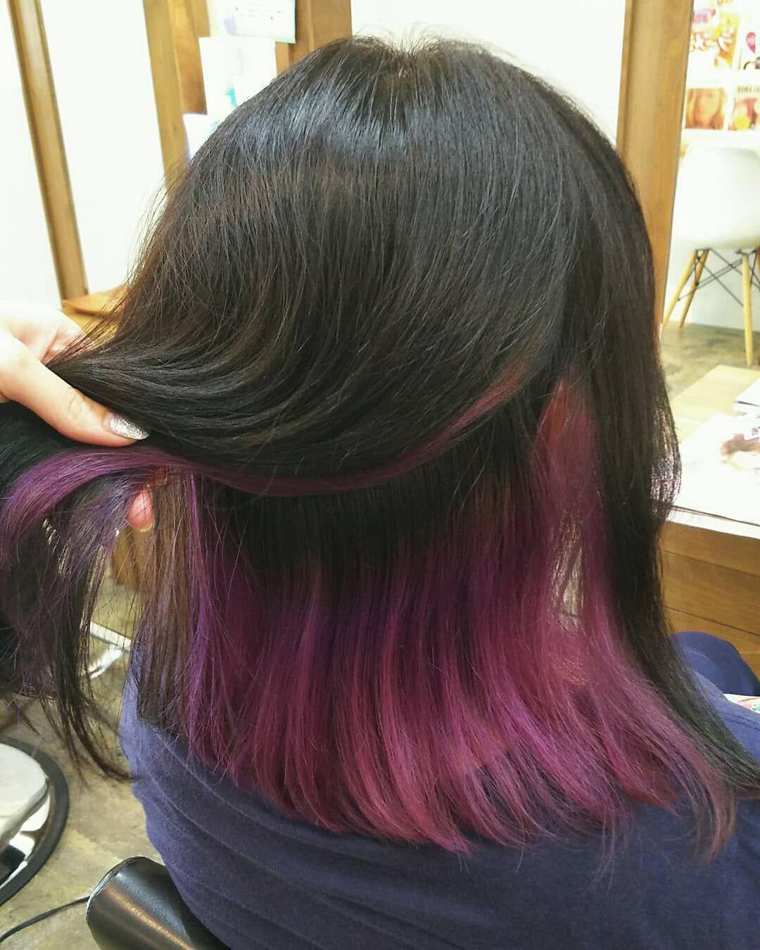 Root Hair なつきさんはinstagramを利用しています インナーカラー ピンクパープル Cabelo Ulzzang Cabelos Pintados Cabelos Coloridos Azuis