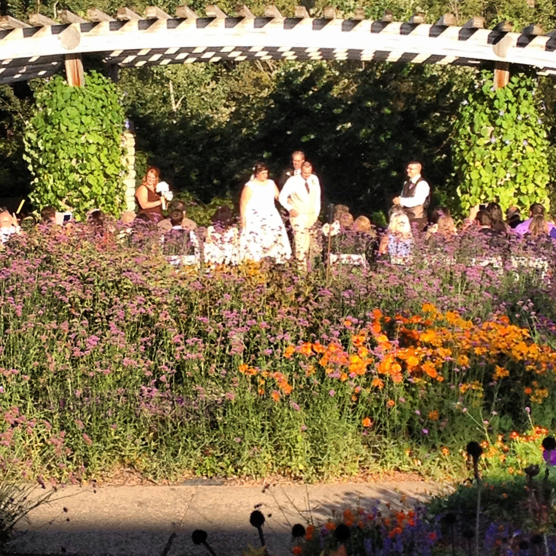 Friday 6pm September 13, 2013. The Gateway Garden wedding of Heidi ...