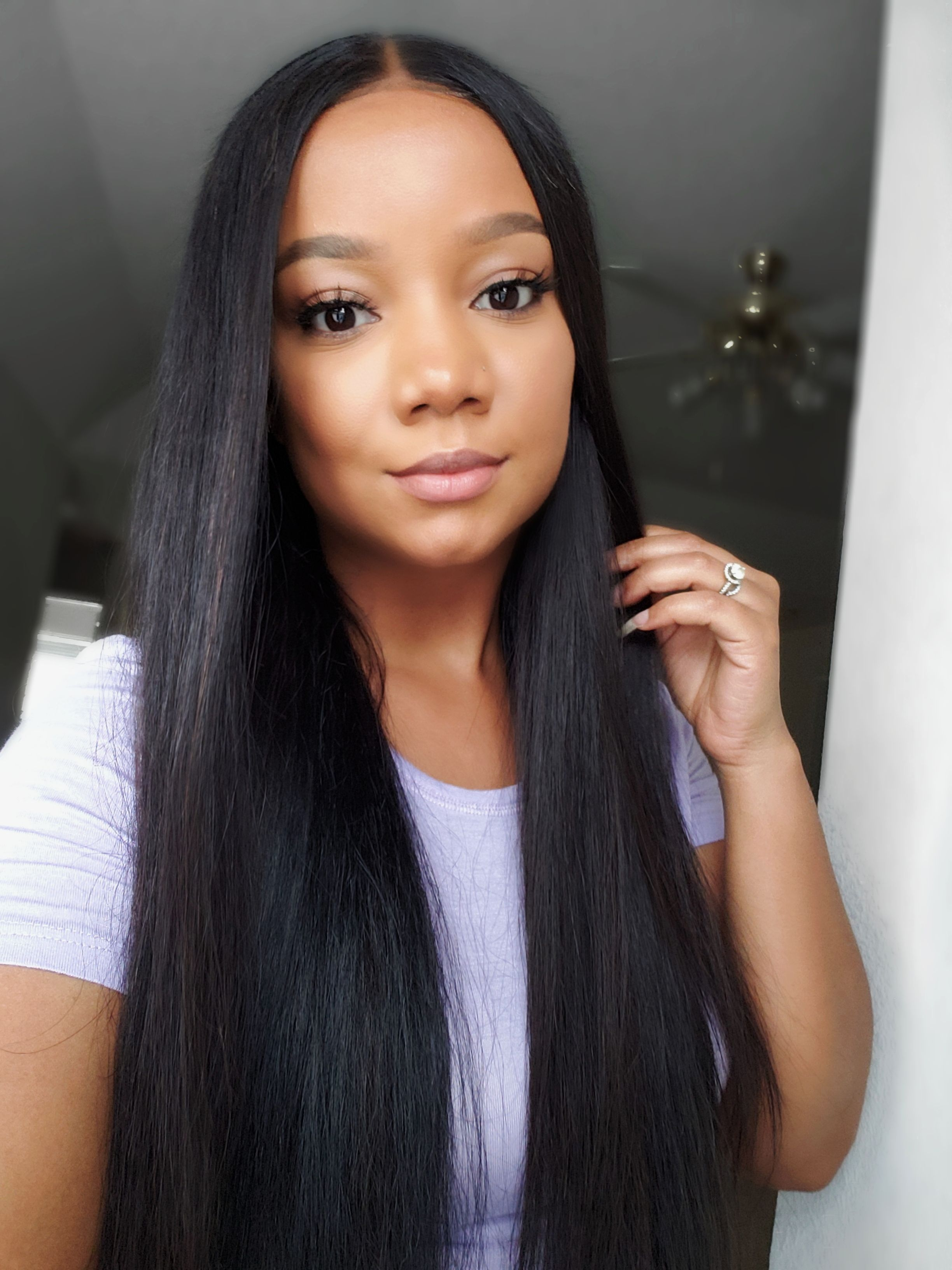 8A Unprocessed Brazilian Hair 3 pcs Straight With 4*4 Lace ...