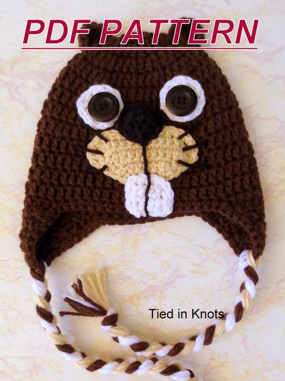 Crochet Pattern Beaver Hat - Crochet Beaver Hat Pattern all sizes -  Photography Prop - Instant Downl 08d943d86fc