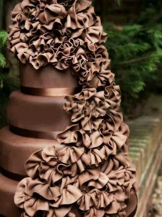 Chocolate Wedding Cake by Stylish Eve Ok good ideas eve