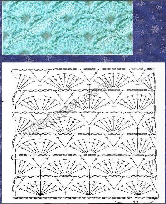 Shell stitch crochet | stitches | Pinterest | Shell, Stitch and Crochet