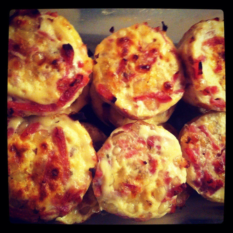 Madmuffins med hytteost og kylling   mad ideer