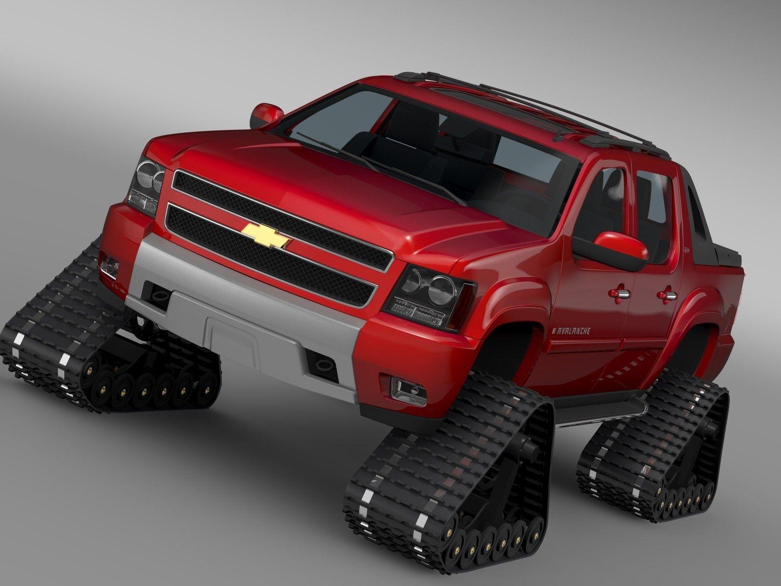 3d chevrolet avalanche z71 crawler model