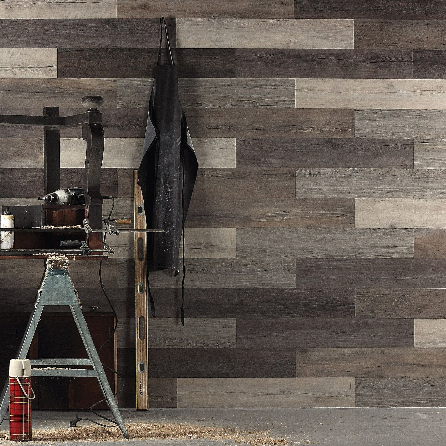 Scrap Wood Look Peel And Stick Wall Planks Wall Planks Wood Pallet Wall Peel And Stick Wood
