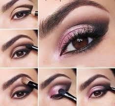 Maquillaje de noche para vestido palo de rosa