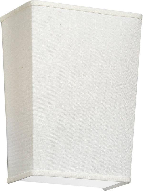 Dainolite 1 Lite Wall Sconce With Hardback Italian Linen Cream Shade 938711W-720