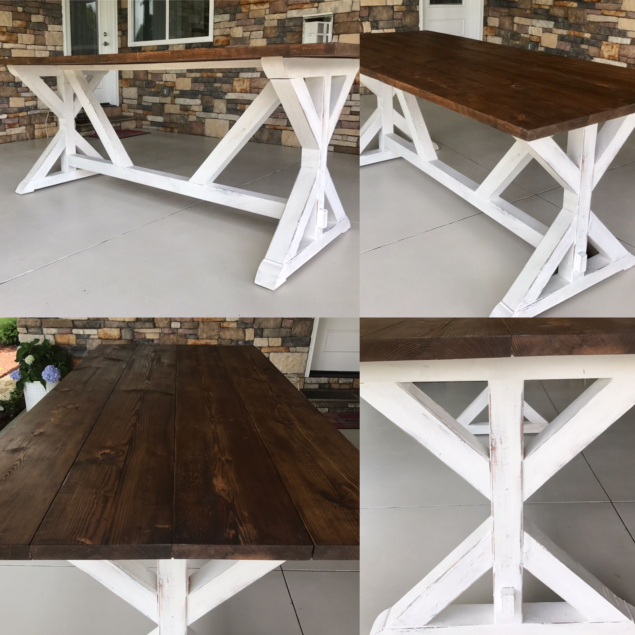 My New Outdoor Bar Height Farmhouse Table So In Love Diy Patio Table Wood Patio Table Bar Height Table Diy