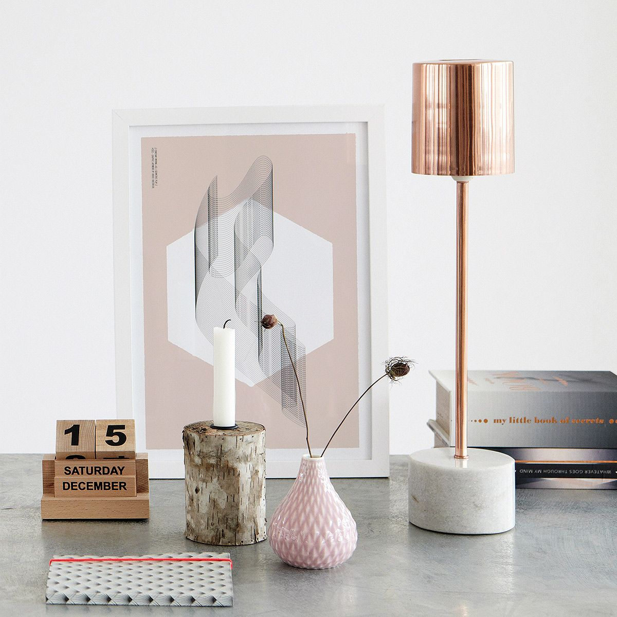 Rose Gold U0026 Marble Lamp | Table Lamps | Lighting | French Bedroom Company
