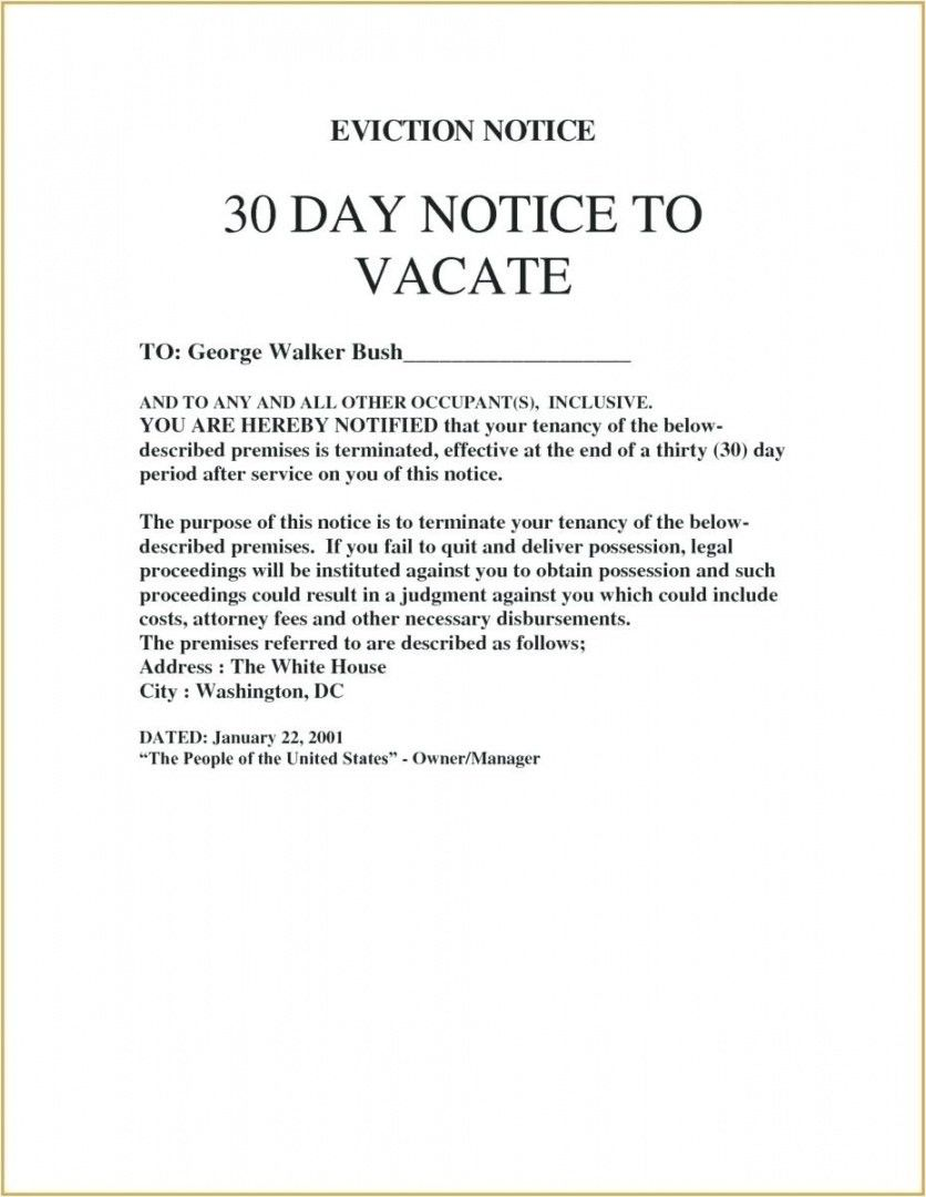 Sample Eviction Notice Letter Templates Letter Template Word Free Basic Templates