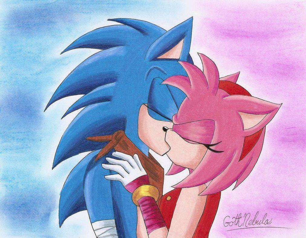 Sonamy Boom Kiss By Gothnebula Sonic Art Sonic And Amy Sonic
