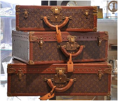Ruby Lane 3pc Vintage Louis Vuitton Suitcases Trunks Luggage Set W Keys Louis Vuitton Luggage Set Louis Vuitton Suitcase Vintage Louis Vuitton