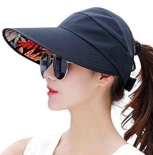 HindaWi Sun Hat Wide Brim Hats for Women UV Protection Visor Floppy Beach  Summer  HindaWi 46615668be0d